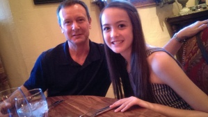 Jon with my youngest daughter, Lara. Love this pic of them!